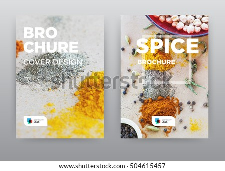 Seasoning Yellow Food Kitchen Trend annual report journal magazine banner poster brochure flyer design template, Leaflet cover presentation abstract flat background, layout in A4 size