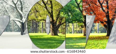 Seasons of 2017 - Shutterstock ID 616843460