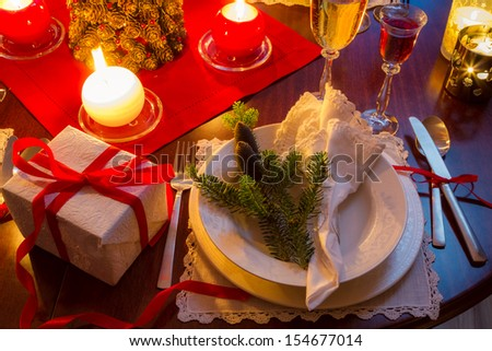 Seat at the Christmas Eve table