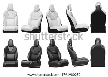 Seat car chair set leather automobile. 3D rendering Foto stock ©
