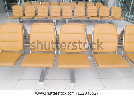 seat in airport terminal