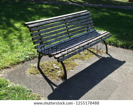 Seat park bench #1255178488