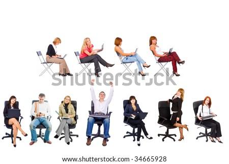 seated people
