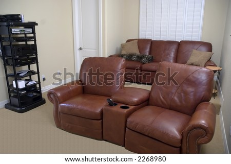 seating arrangement for home theater for big screen viewing