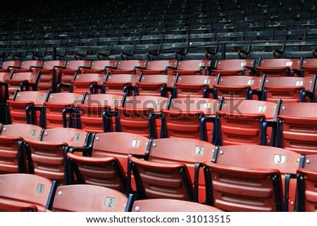 Seats at Boston's Fenway Park.