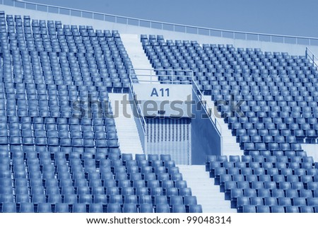 seats in a modern sports venues, hebei, China