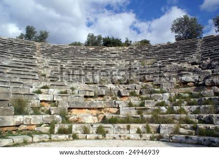Seats in big theater in Kash, Turkey