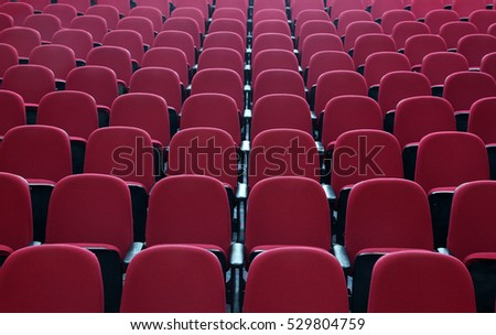 Seats in cinema theater opera concert hall