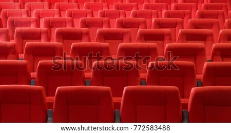 Seats in cinema theater opera concert hall                   #772583488
