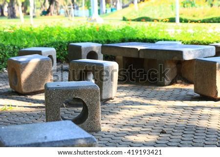seats in the garden #419193421