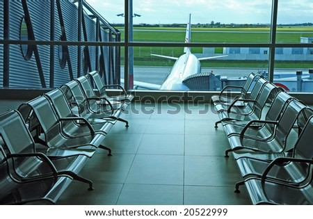 seats on airport hall