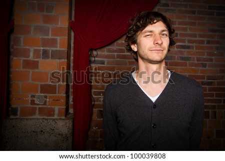 SEATTLE - APRIL 10:  Indie Rock Star Wally De Backer aka Gotye poses for a photograph before his sold out show at Showbox Sodo in Seattle on April 10, 2012.