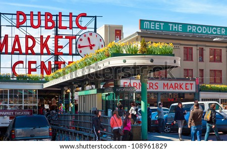 seattle april 6  pike place...