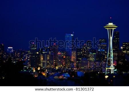 Seattle Downtown - Night shot
