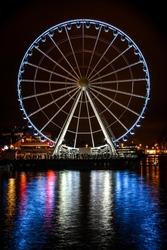 Seattle Ferris Wheel (Inagural Night) The Great Wheel