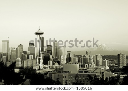 Seattle in sepia