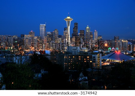Seattle sky line viewed from queen anne