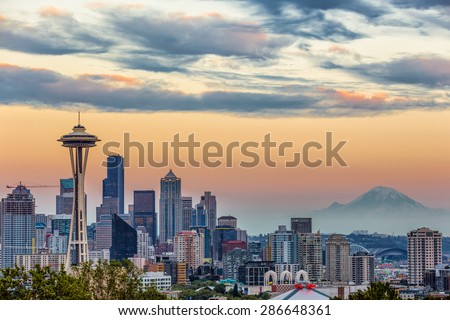 Stock Photo Seattle Skyline