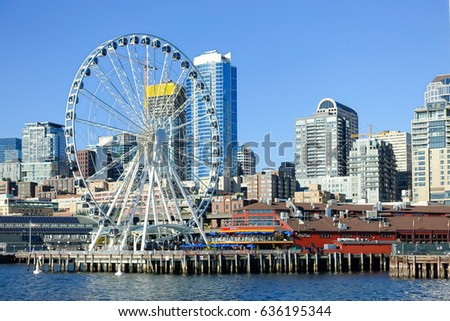Seattle Skyline #636195344