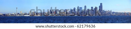 Seattle skyline panorama.