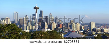 Seattle skyline panorama, WA.state.