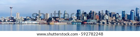 Seattle Skyline Panoramic #592782248