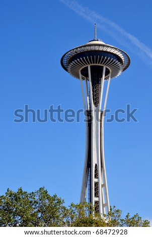 SEATTLE, USA - SEPTEMBER 2010: view of the Space Needle on September 2010 in Seattle