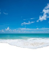 Seawater waves at the sandy beach, di-cut out on a white background, Clipping path.