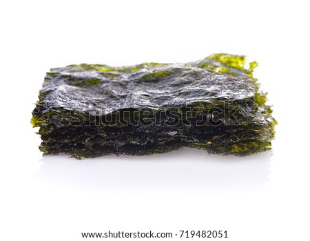 seaweed crispy seaweed isolated on white background
