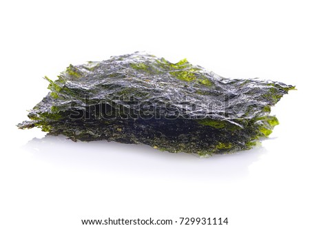 seaweed crispy seaweed isolated on white background