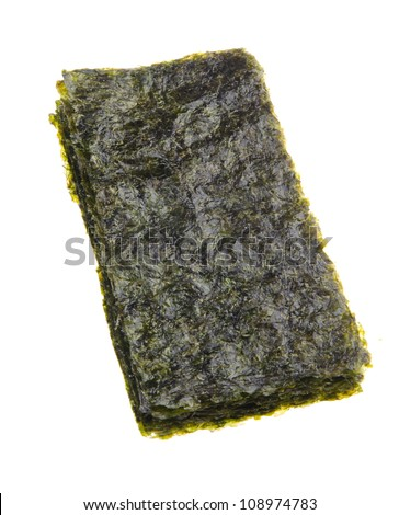 seaweed. dry seaweed on the background - stock photo