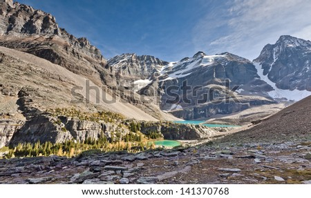 Secluded Mountain Lake in Canadian Rockies