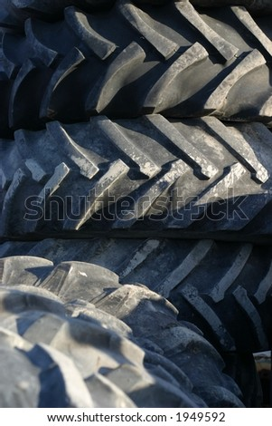 Second hand tractor tires in a scrap yard stock photo for Scrap tractor tires