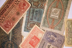 second reich Germane old banknotes , vintage and antiques currency , ww1 banknotes 1917, 1918 .