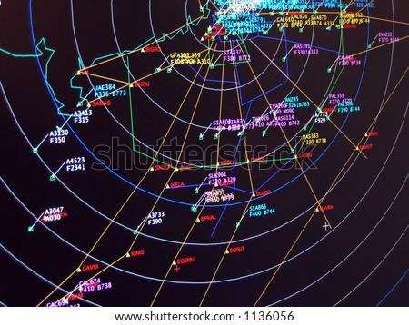 Secondary Surveillance Radar Situation Screen Display Stock Photo ...