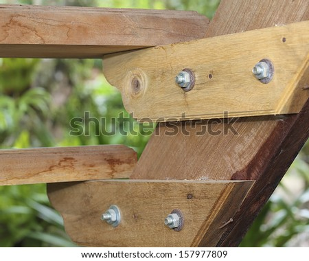Secondary wood stair