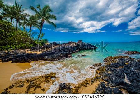 Stock Photo Secret Beach, Maui