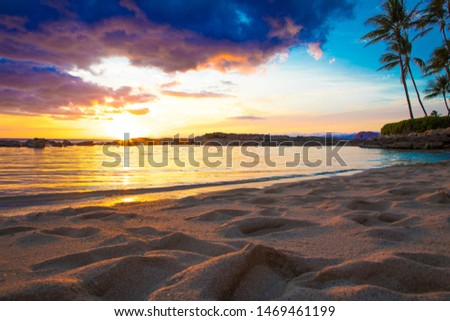 Secret Beach Sunset in Hawaii #1469461199