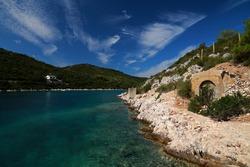 Secret submarine base on Vis island, Croatia