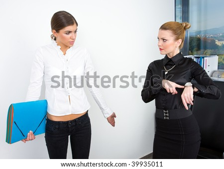 secretary apologize that she is late