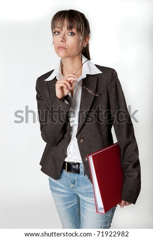 Secretary carries important files