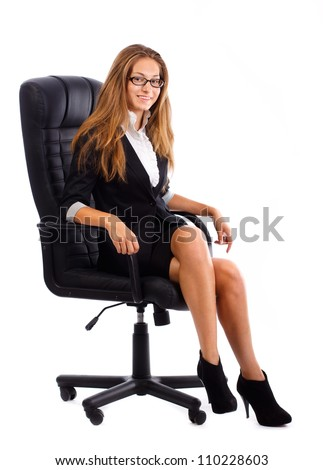 Secretary girl on the chair