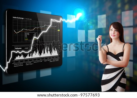 Secretary present the stock exchange graph report