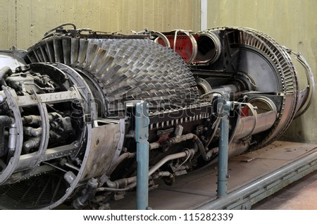 section of an engine