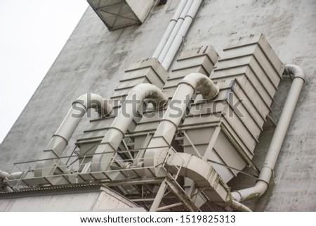 section of an industrial building
