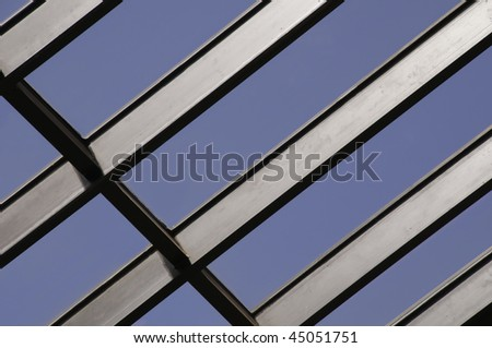 Section of skylight at mid day