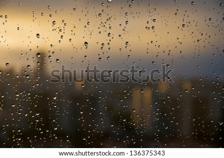 section - the windows. photographs on a rainy day. #136375343