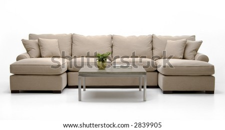 Sectional sofa and coffee table