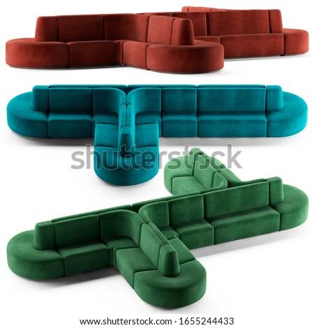 Sectional sofa for living room, lobby, hotel or restaurant
