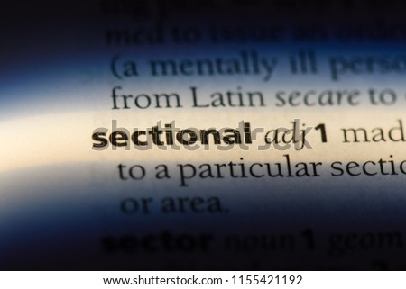 sectional word in a dictionary. sectional concept. #1155421192